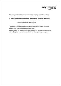 Phd dissertations online warwick