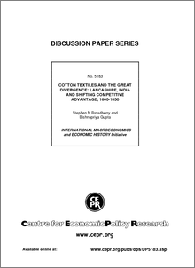 Cotton textiles and the great divergence: Lancashire, India