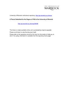 Dissertation and voluntary work