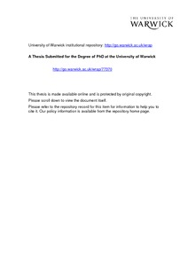 Warwick phd thesis