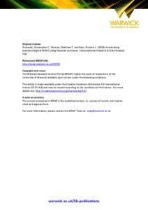 Accelerating pseudo-marginal MCMC using Gaussian processes - WRAP